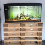 Pallet Table or Aquarium Stand with Drawers