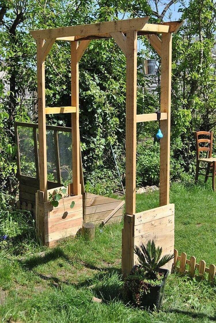 Pallet Wooden Arch for Garden