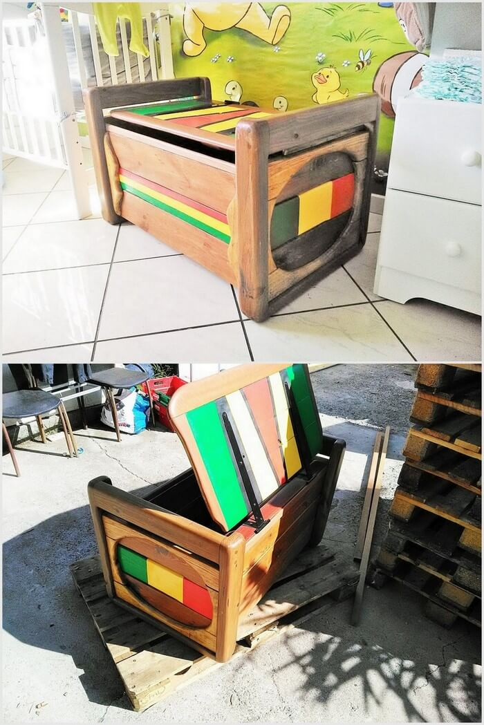 Pallets Toy Box for Kids