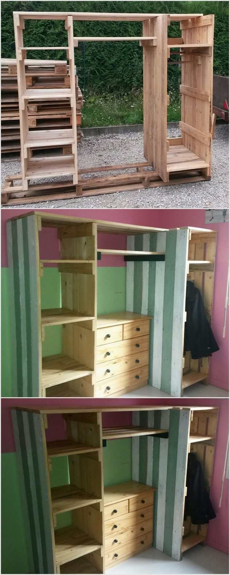 top best recycling ideas with used wood pallets pallet wood projects. Black Bedroom Furniture Sets. Home Design Ideas