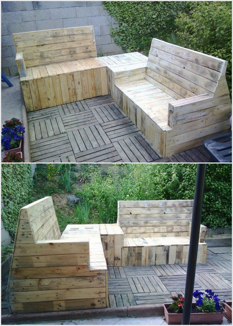 Recycled Wood Pallet Terrace