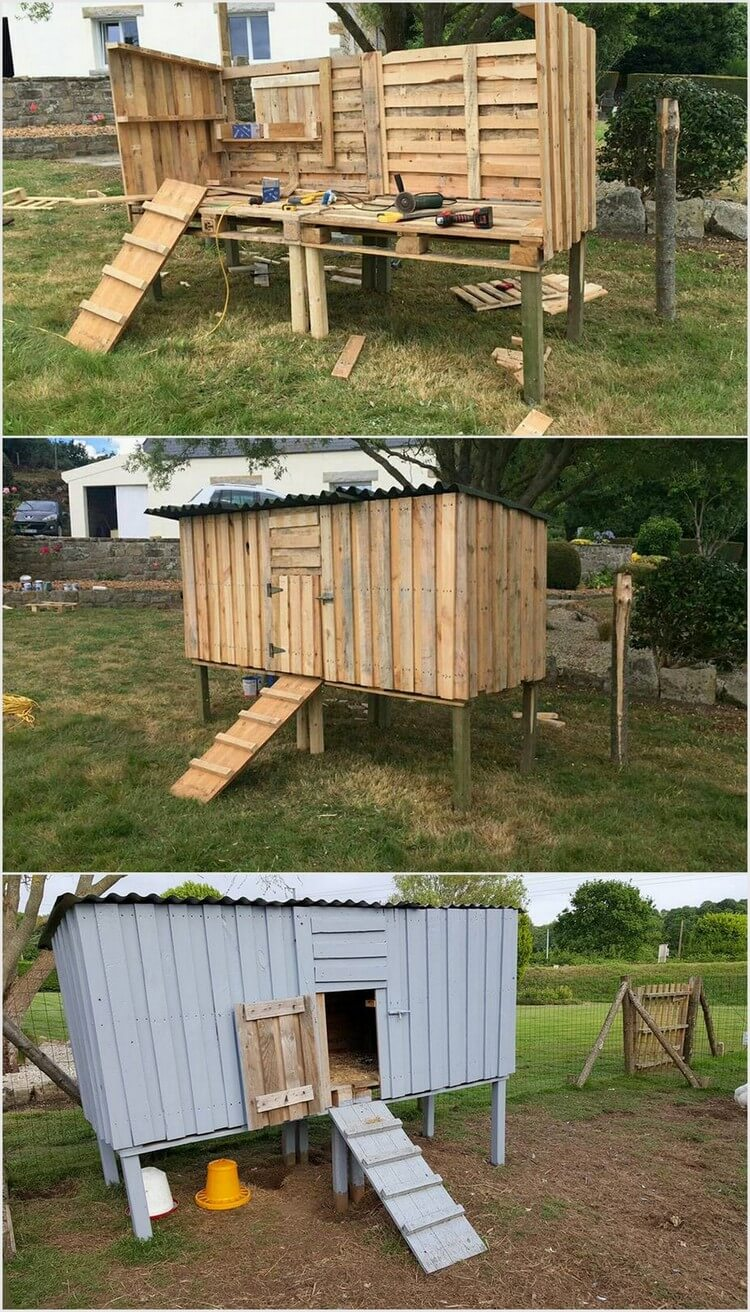 Shipping Pallet Chicken Coop