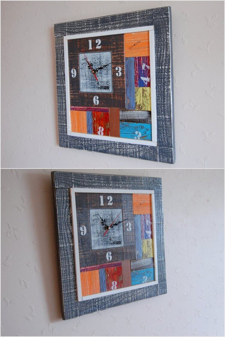 Unique Recycled Pallet Wall Clock