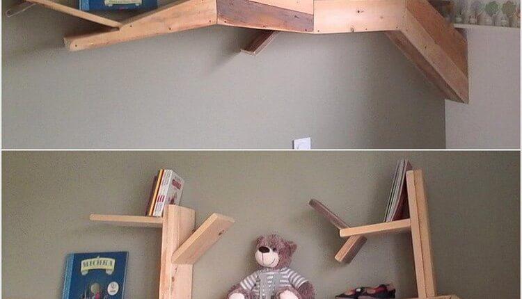 Unique Wood Pallet Shelf
