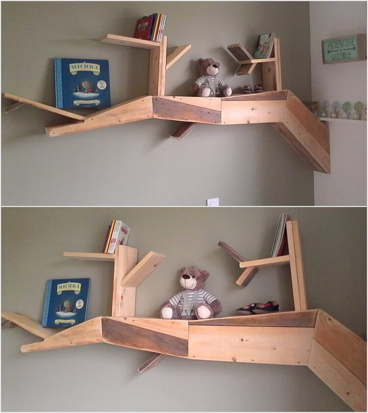 Unique Wood Pallet Shelf