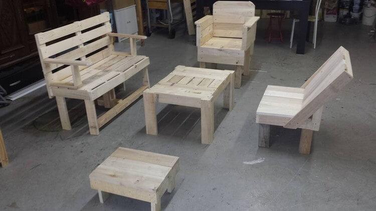used pallet furniture. used pallet furniture set