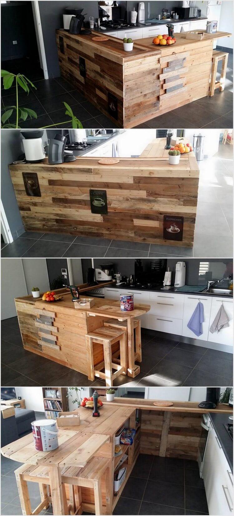 Wood Pallet Bar Idea