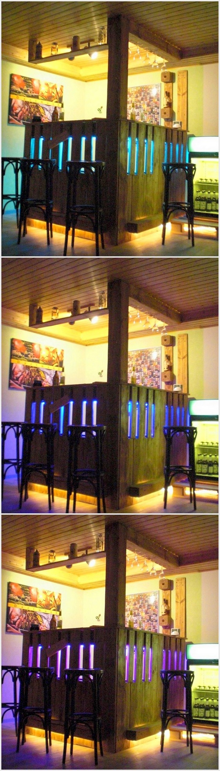 Wooden Bar Lights ~ Fantastic ideas for wood pallet reusing projects