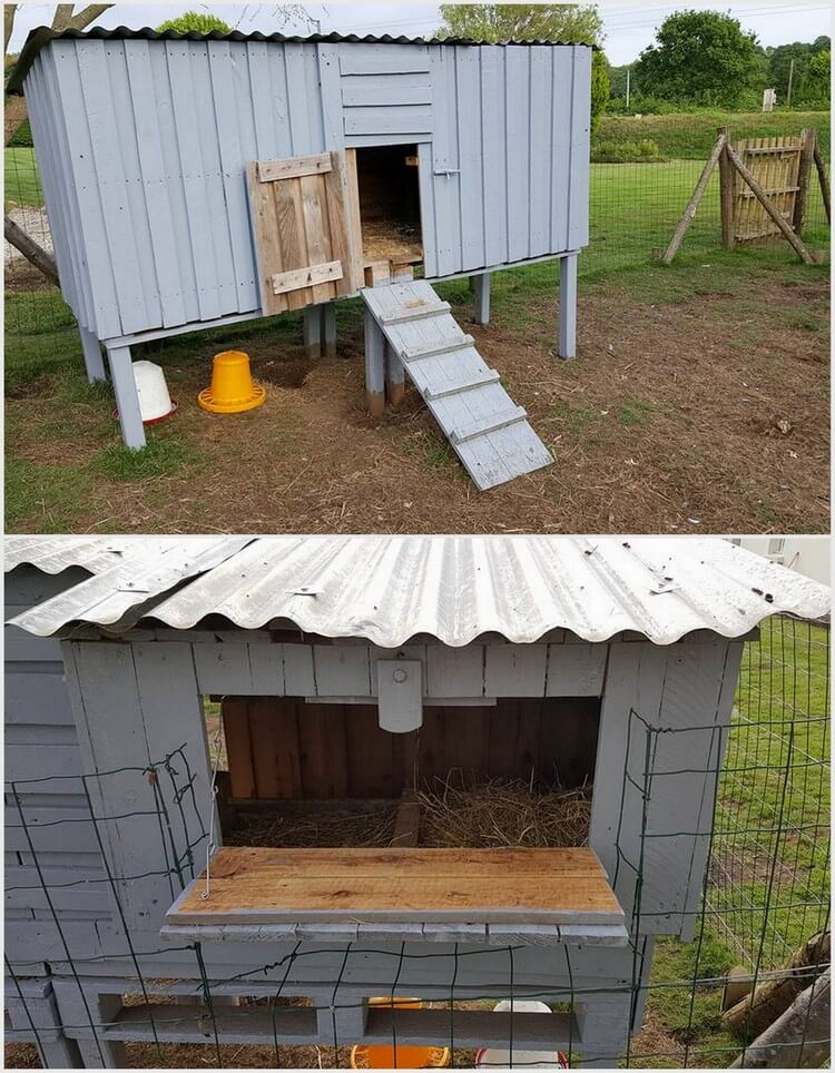 Chicken coop made out of shipping wood pallets pallet Chicken coop from pallet wood