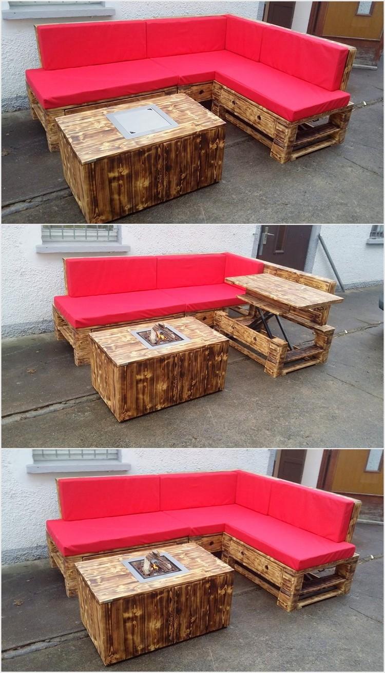 Fantastic ideas for wood pallet reusing pallet wood projects for Pallet corner bench