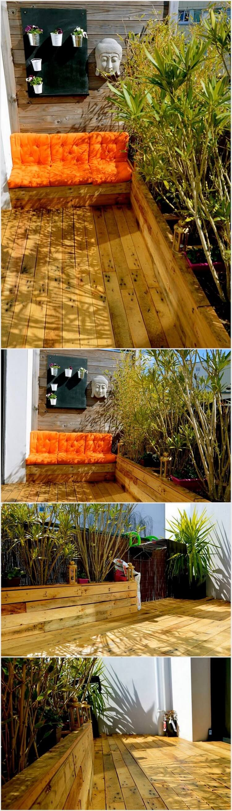 Wood Pallet Couch with Deck
