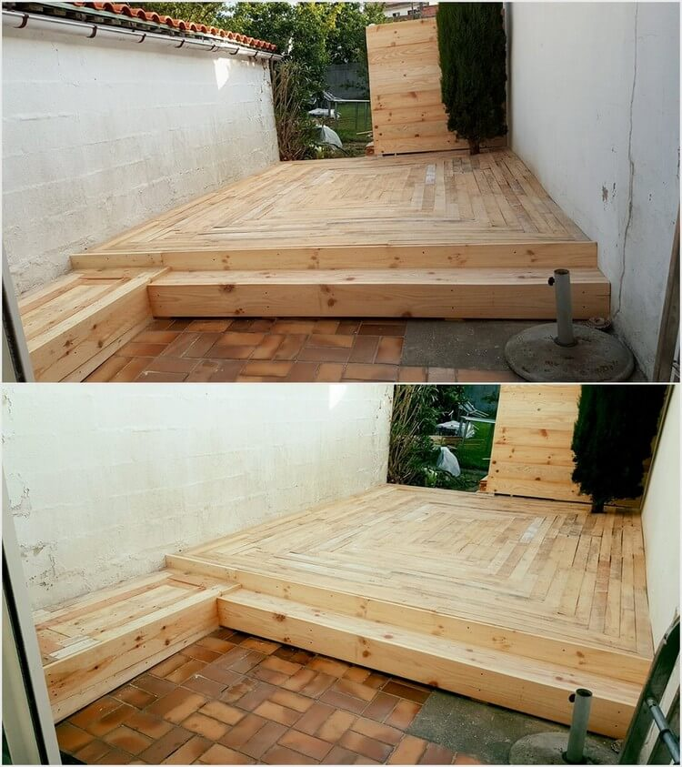 Homely diy projects with shipping wood pallets pallet for Garden decking projects