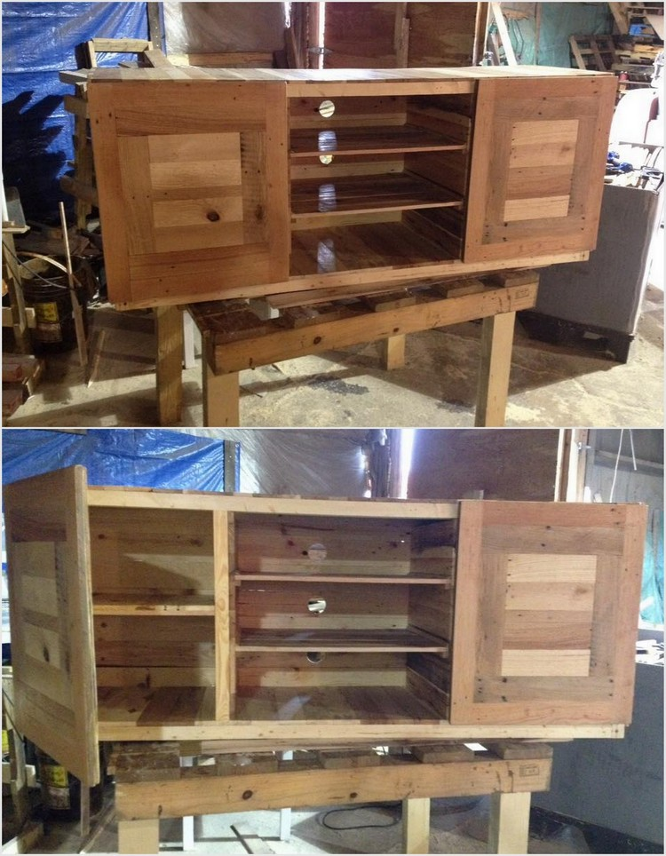 Wood Pallet Table Cabinets