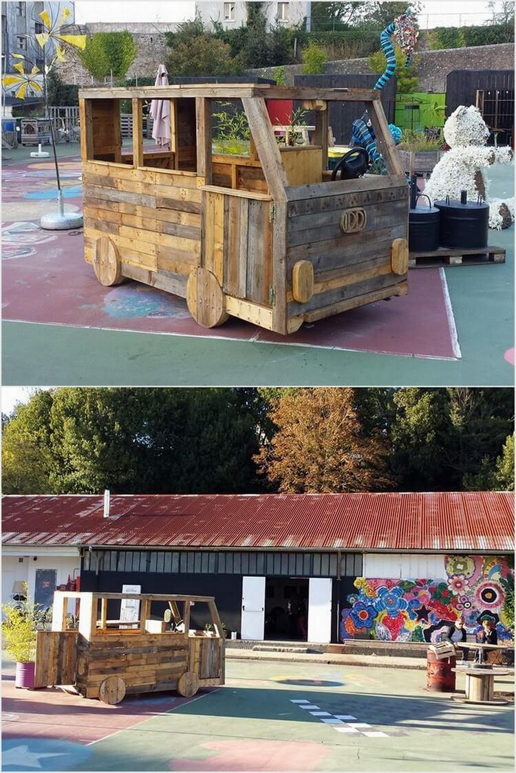 Wood Pallet Van
