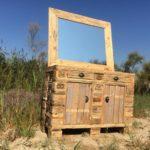 Wood Pallet Vanity Mirror or Dresser