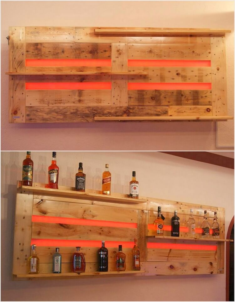 Wood Wine Bar ~ Wood pallet creations at wine bar projects