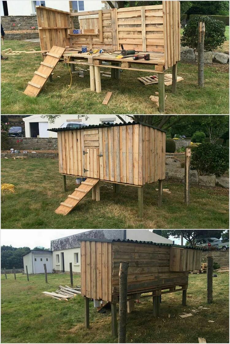 Wood Pallets Chicken Coop