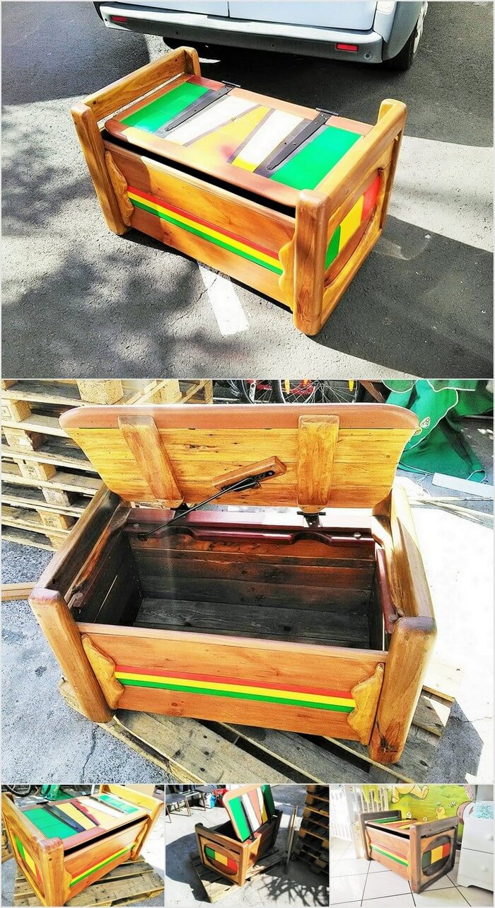 Wood Pallets Made Toy Box for Kids