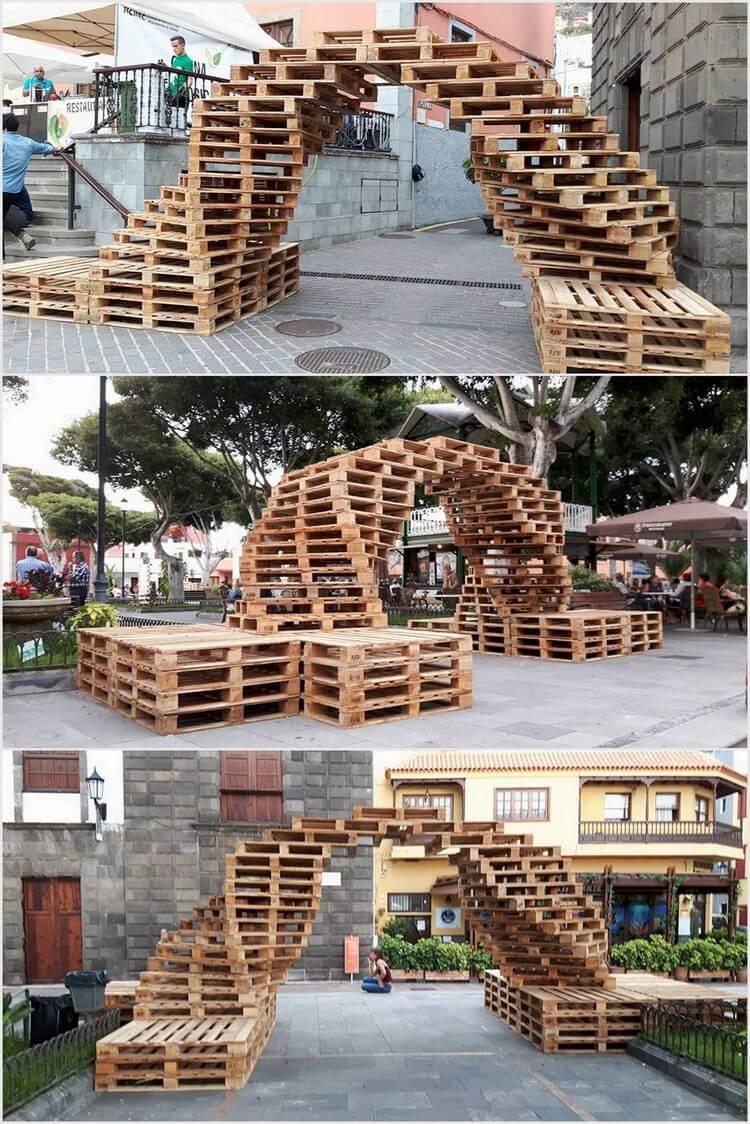 Wooden Pallet Arch