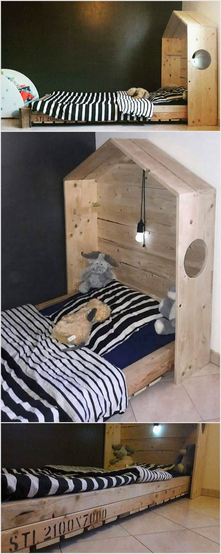Wooden Pallet Bed for Kids