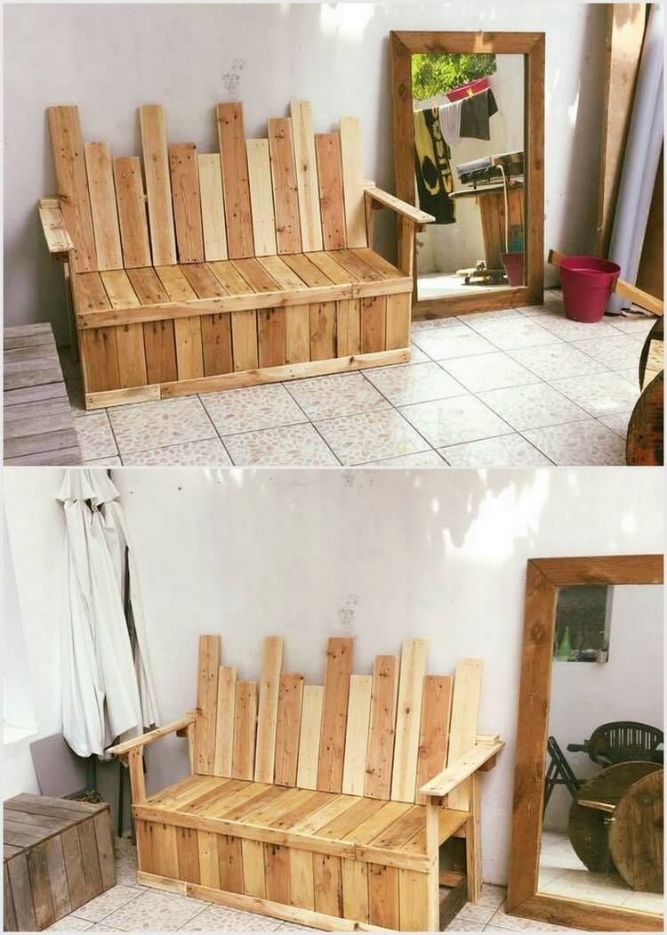 Wooden Pallet Bench or Couch