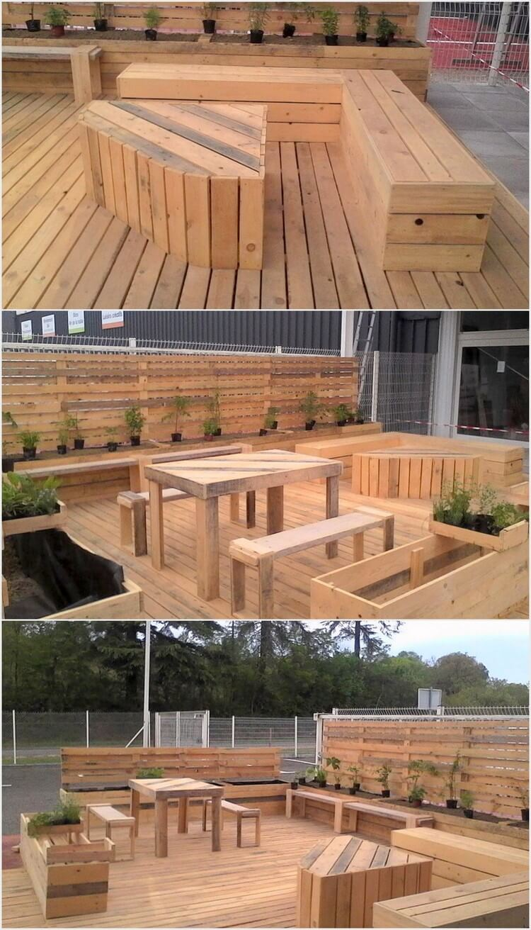 Wooden Pallet Made Terrace