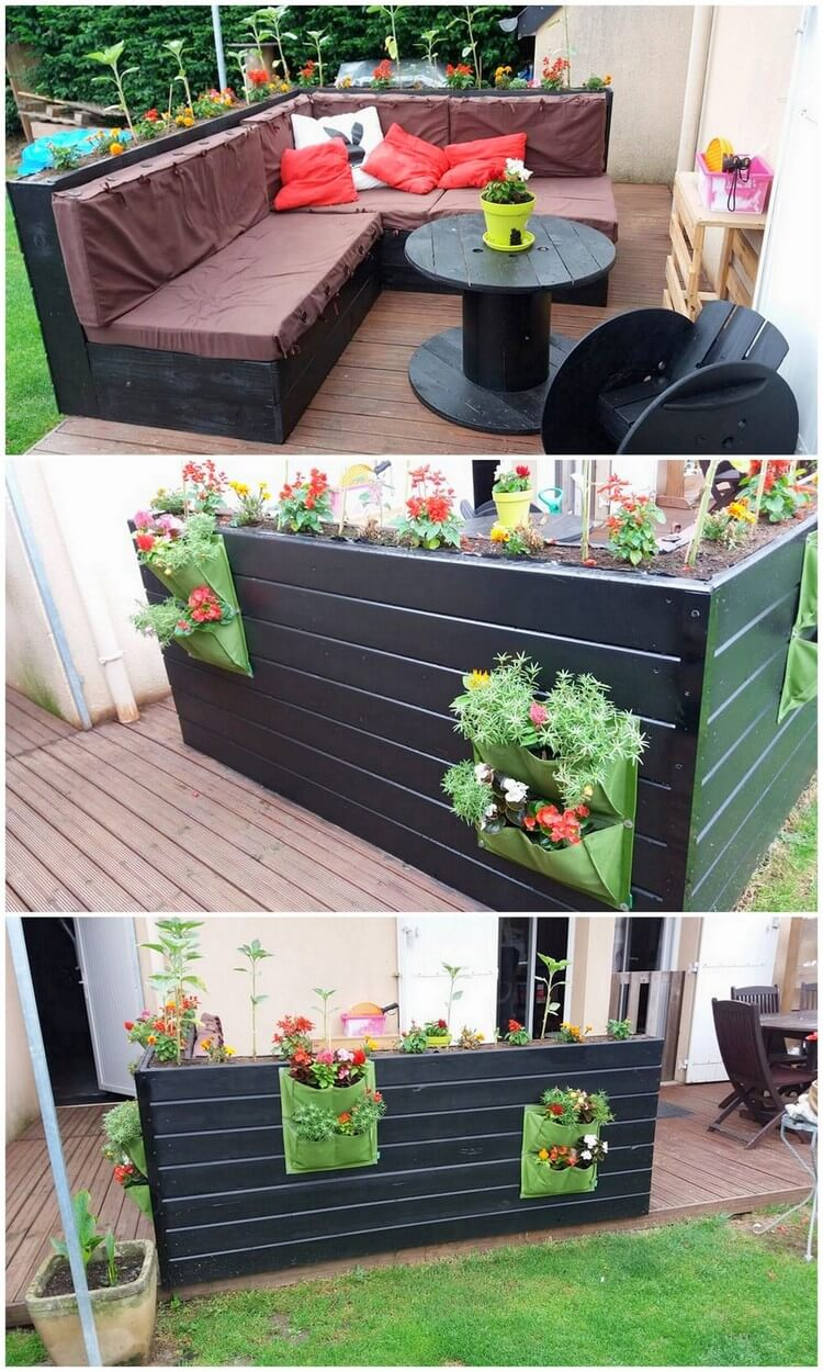 Awesome Pallet Garden Couch