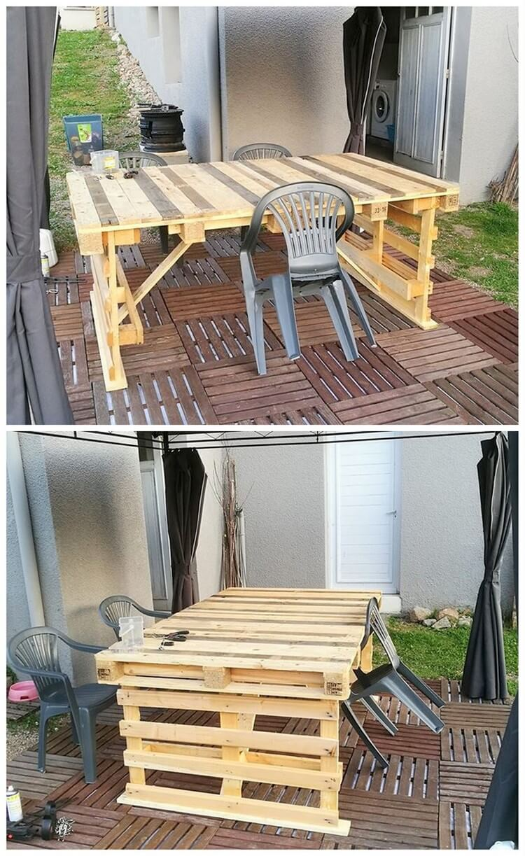 Big Wood Pallet Table