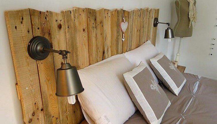 Classy Wood Pallet Headboard