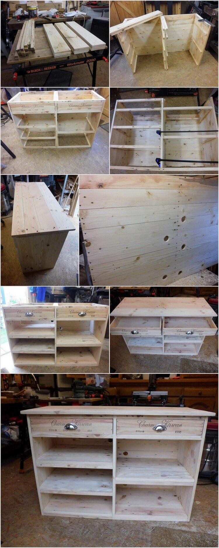DIY Wood Pallet TV Stand - Media Cabinet