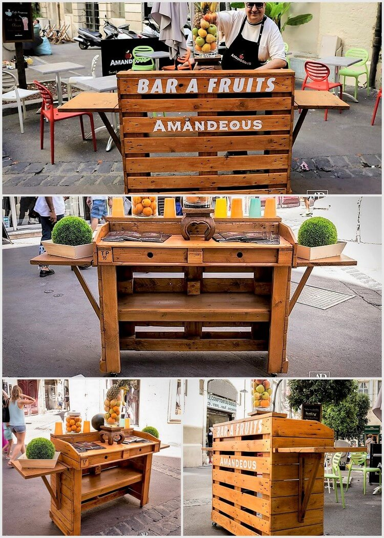 Fruits Bar Made Out Of Wood Pallets Pallet Projects