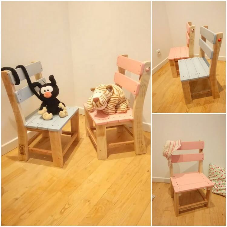 Little Pallet Chairs for Kids