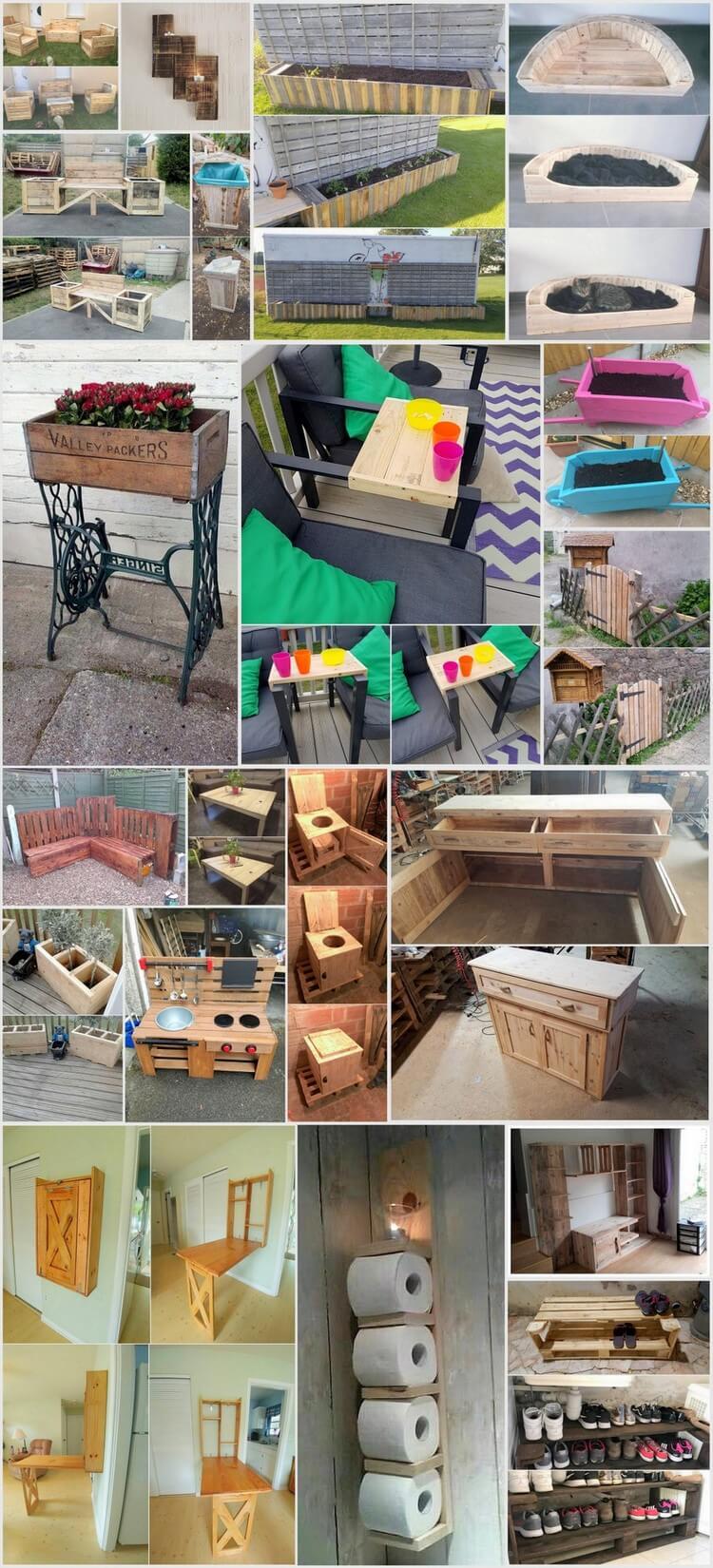 Low Budget-Leistungen mit alten Holzpaletten - DIY ideen 2018