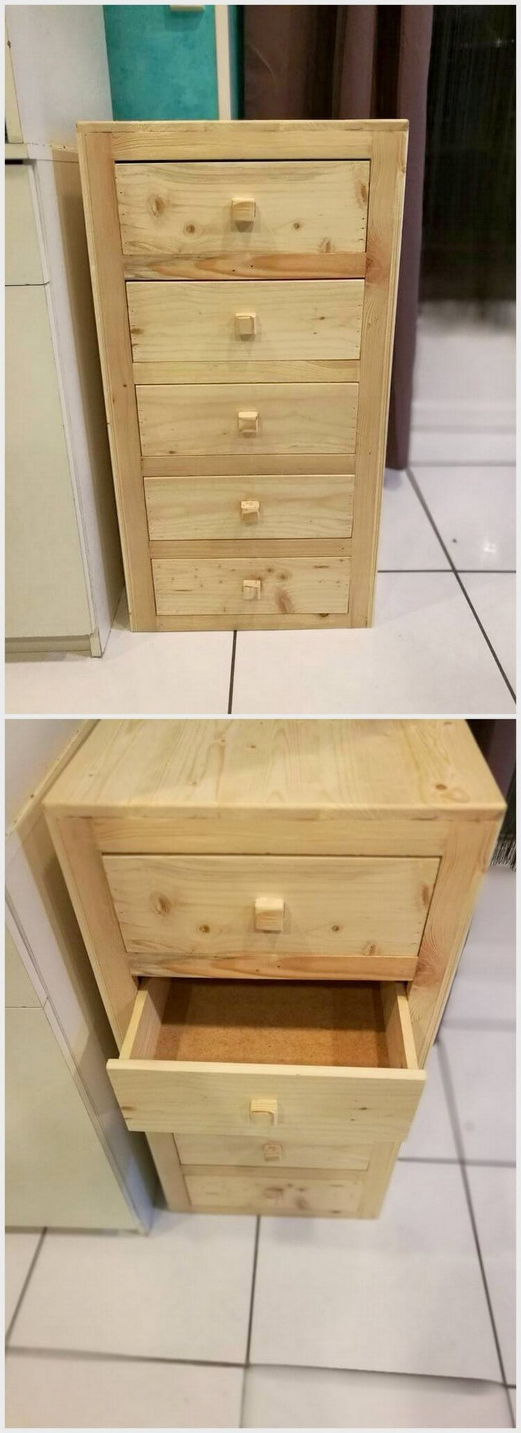Mini Pallet Chest of Drawers