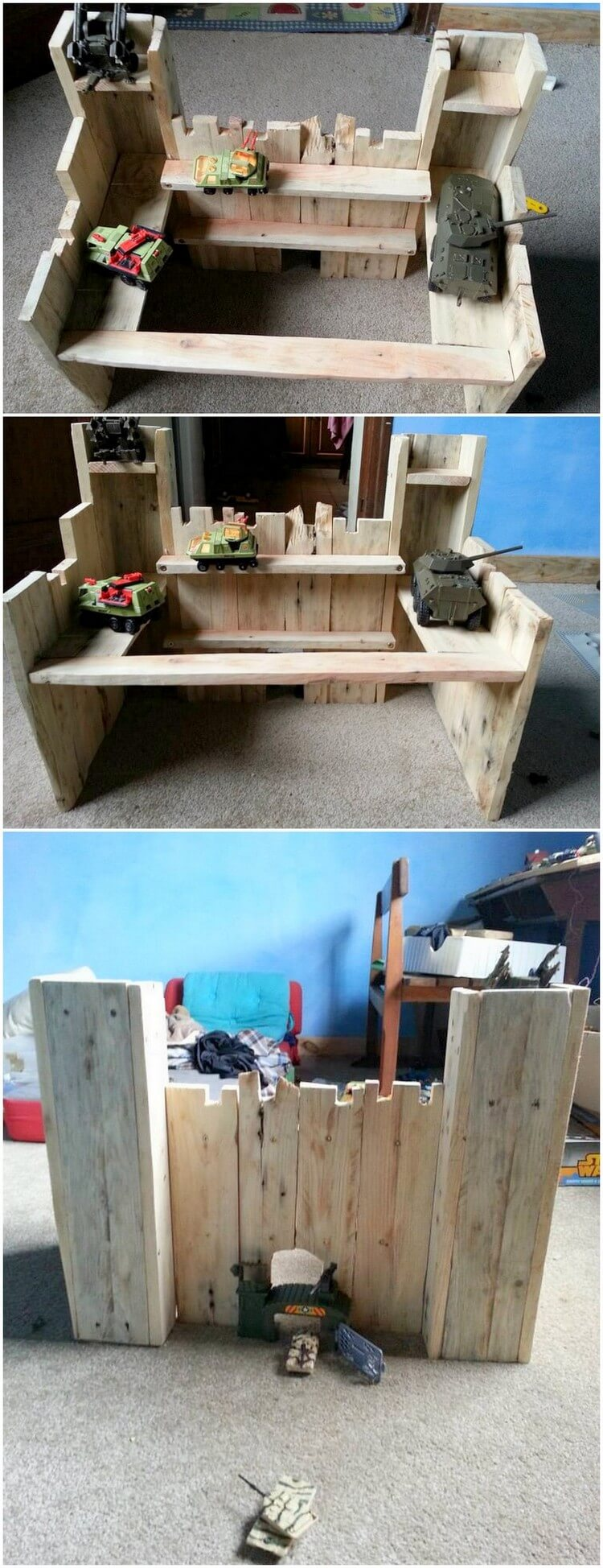 Pallet Castle for Kids