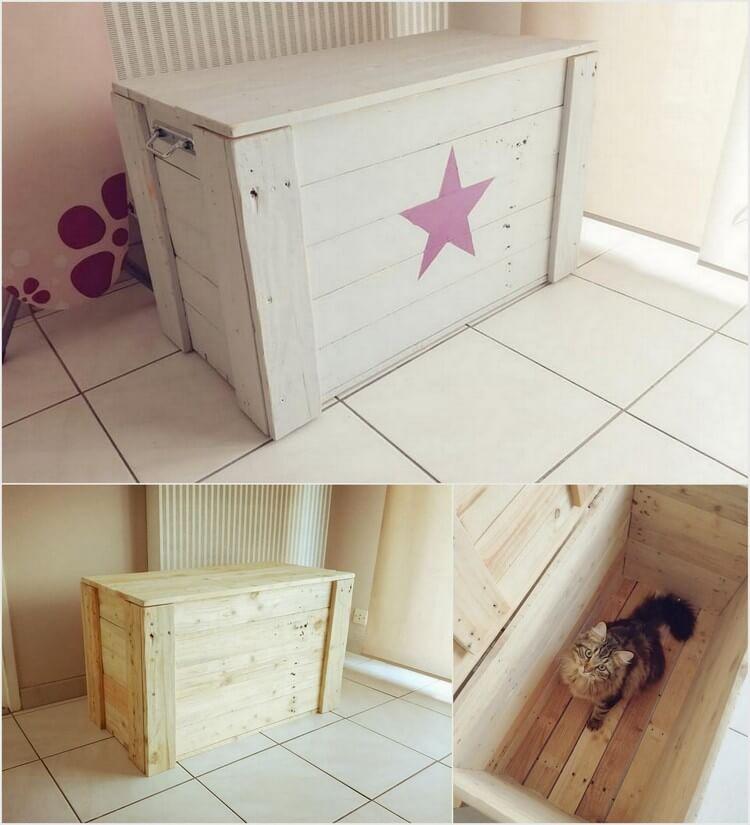 Pallet Cat Box