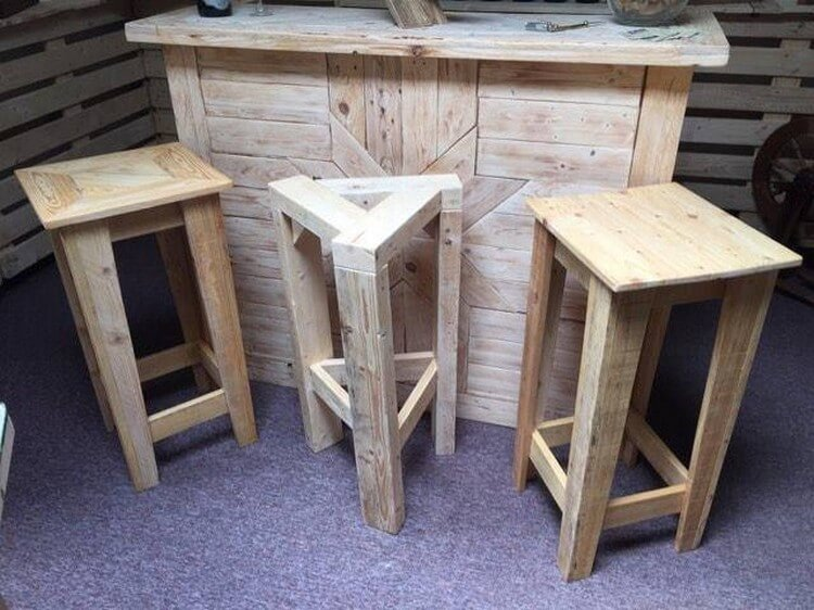 Pallet Counter and Stools