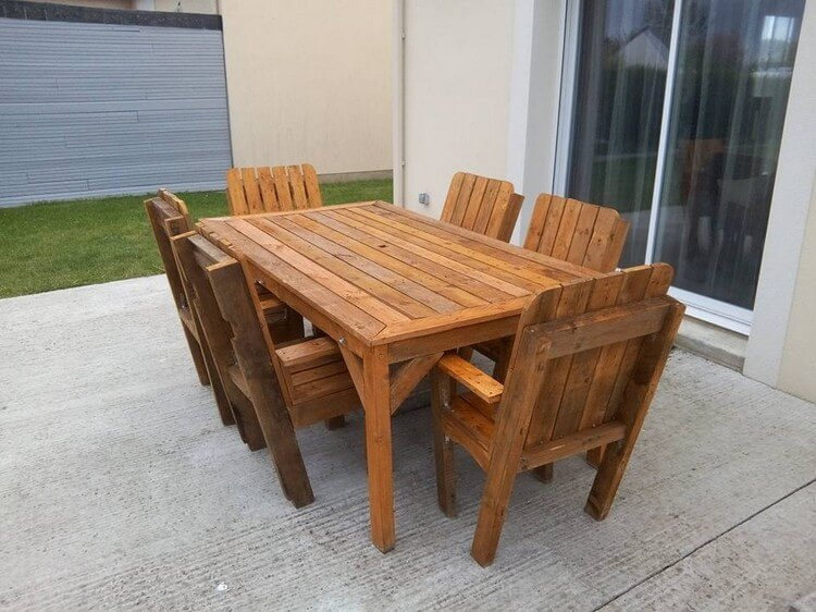 Pallet Dining Table Set