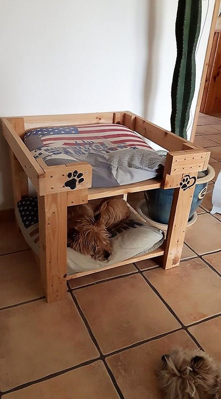 Creative reusing ideas for old wooden pallets pallet for Wood pallet dog bed