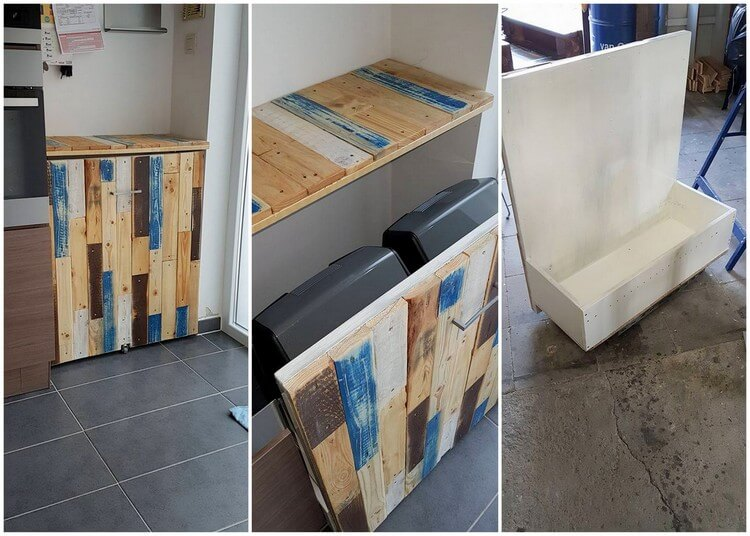 Pallet Garbage Cache on Wheels