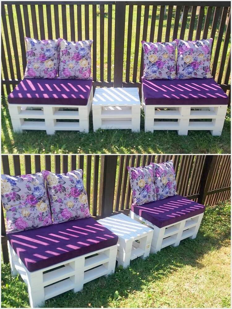Pallet Garden Seats and Table