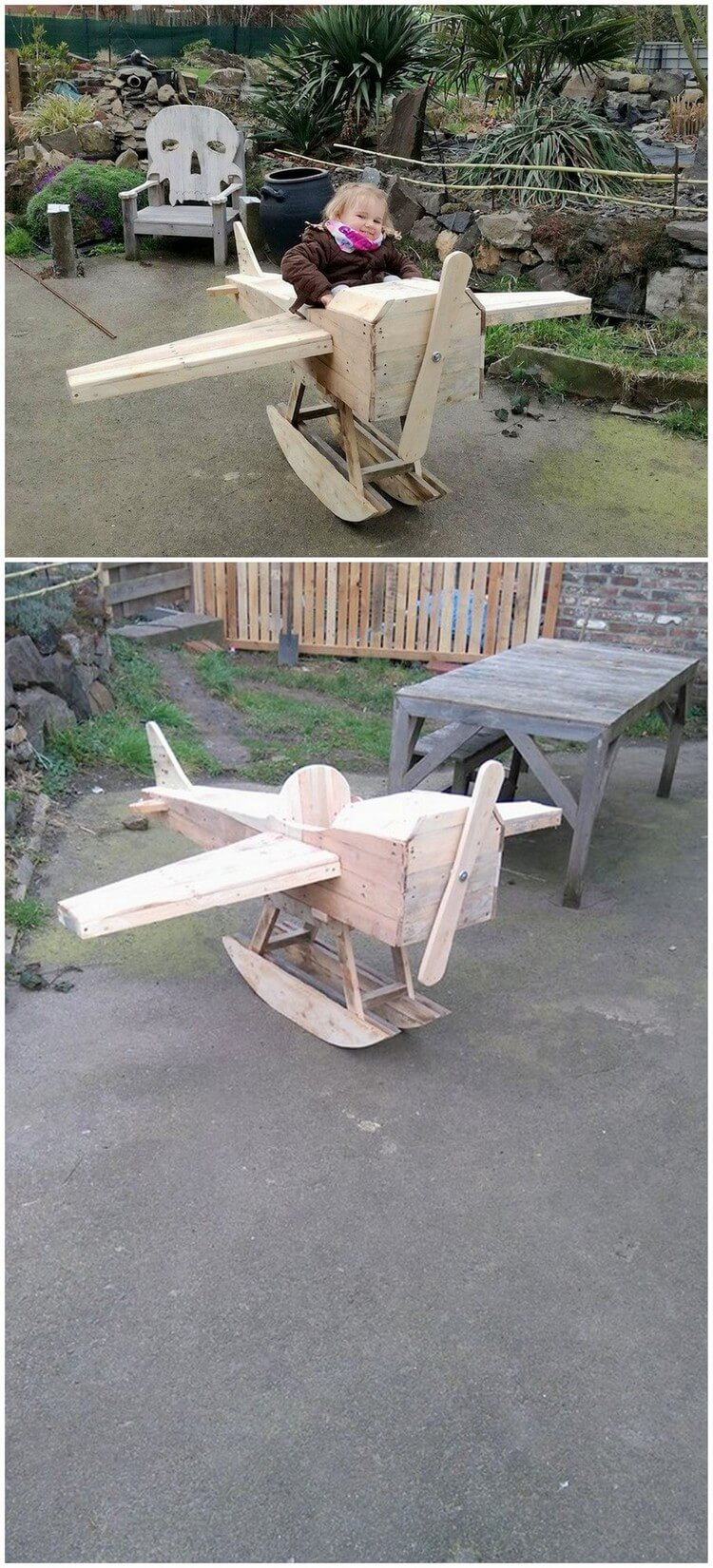 Pallet Helicopter for Kids