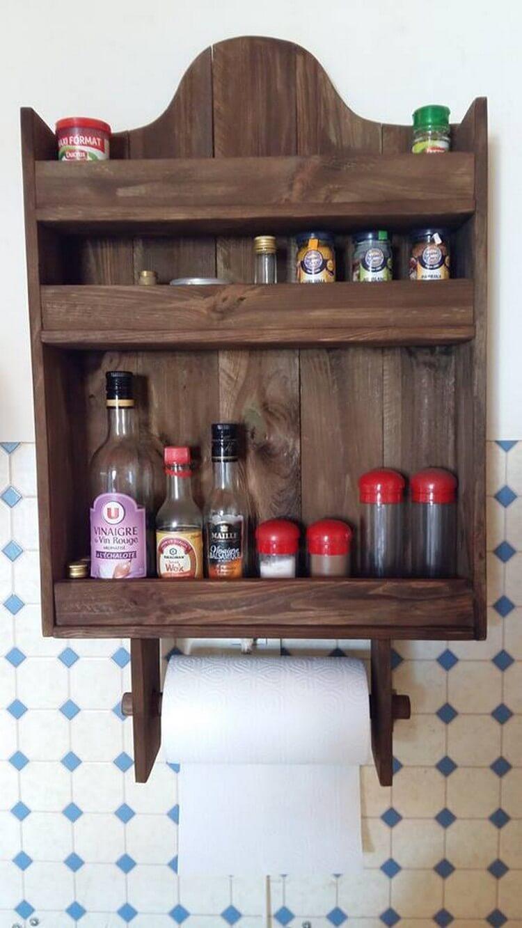 Pallet Kitchen Spice Rack