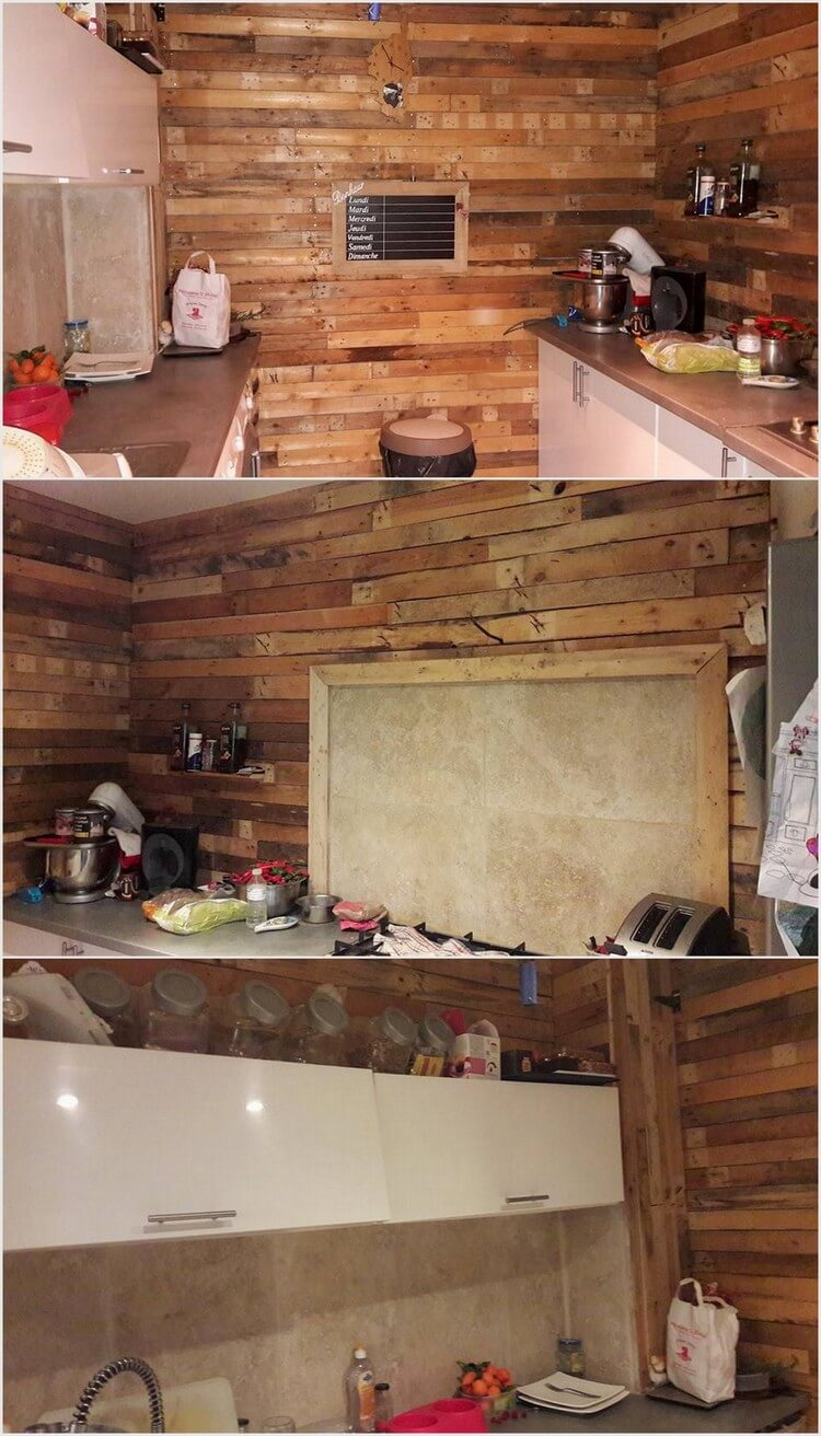 Pallet Kitchen Wall Cladding