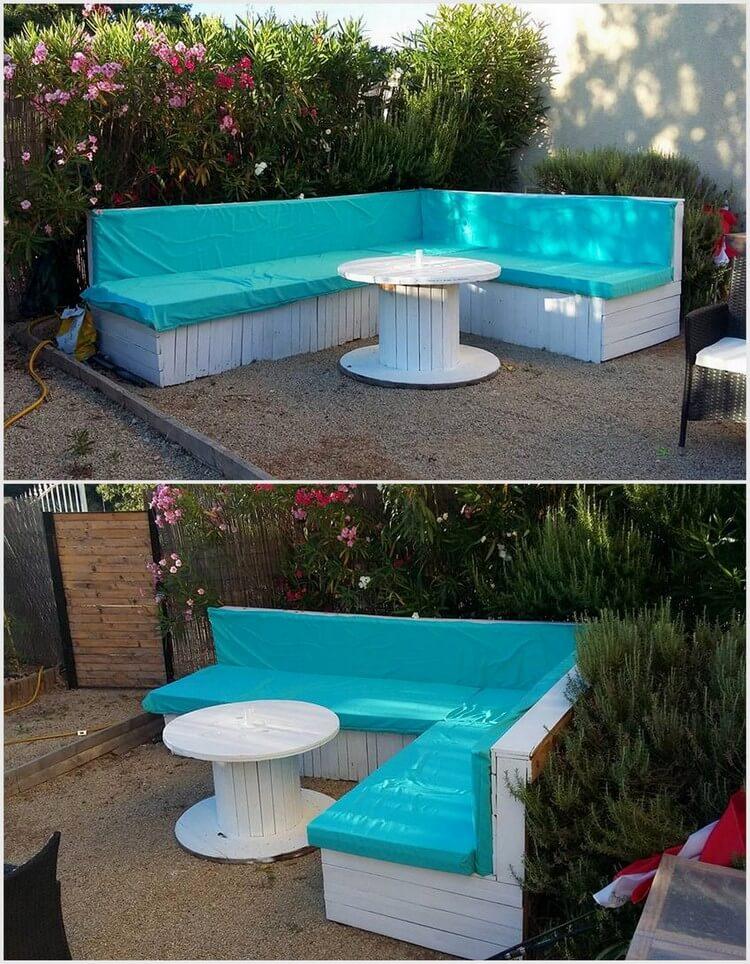 Pallet L Shape Garden Sofa
