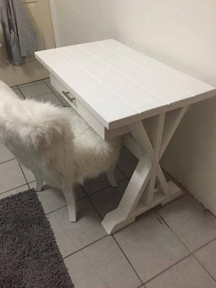 Pallet Mini Desk with Drawer