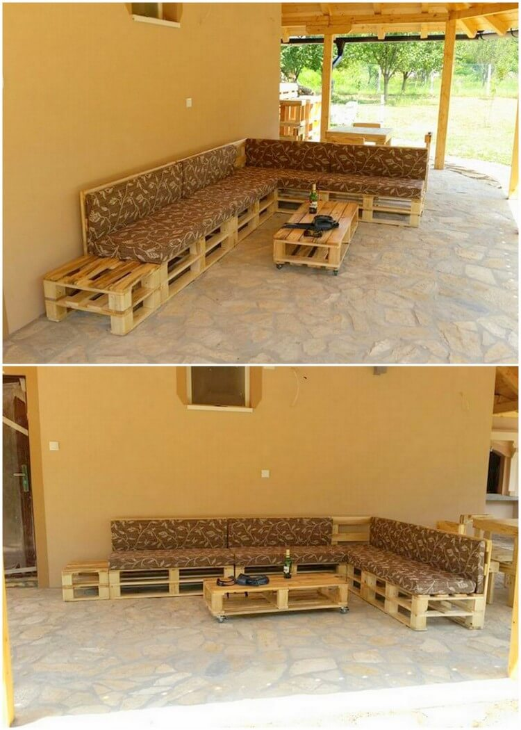 Pallet Outdoor Furniture Set (2)