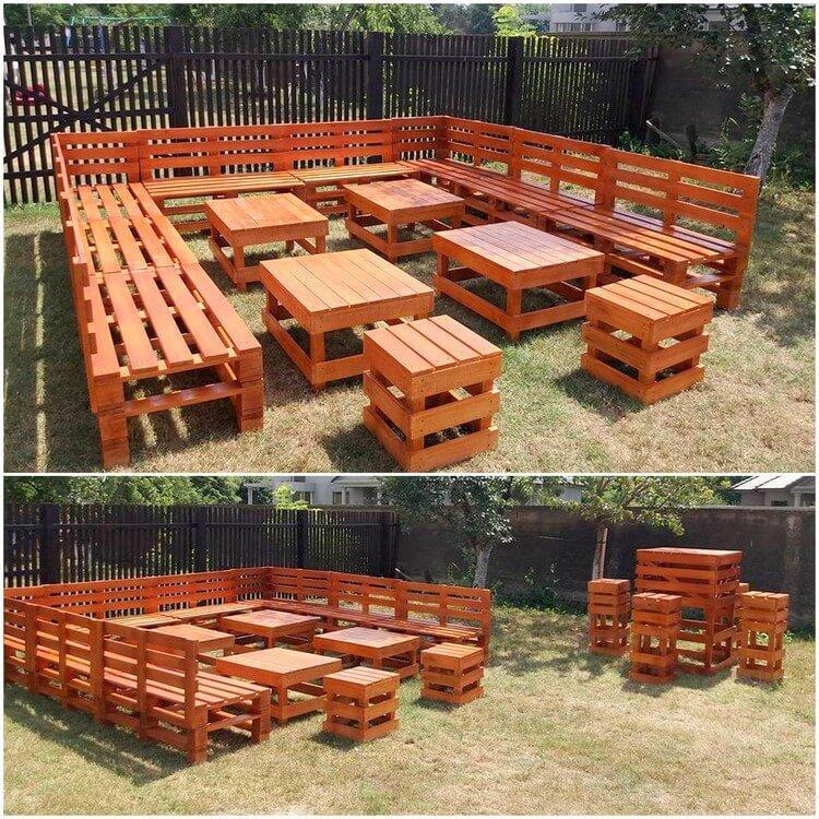 Pallet Outdoor Seating Arrangement