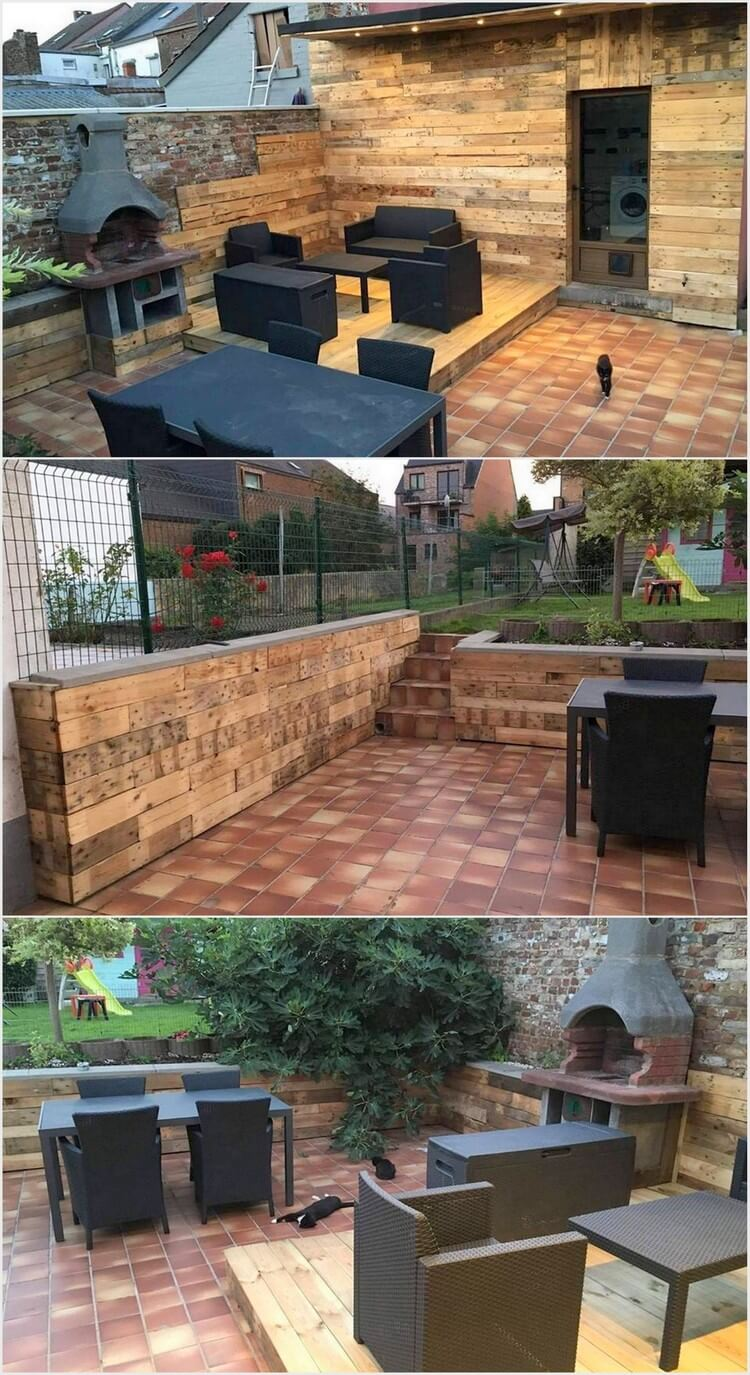 Pallet Outdoor Wall Cladding and Deck