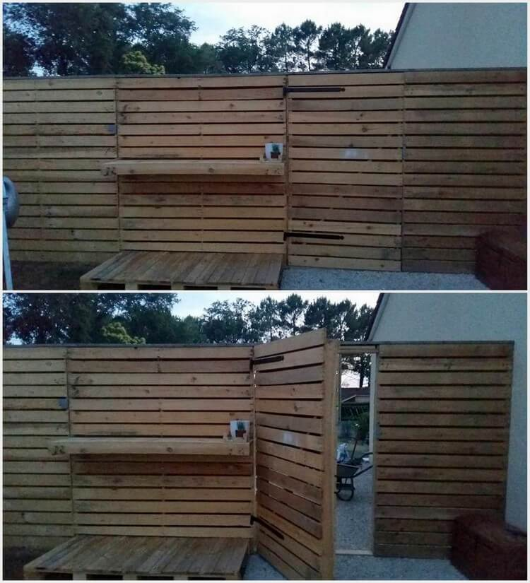 Pallet Outdoor Wall and Door